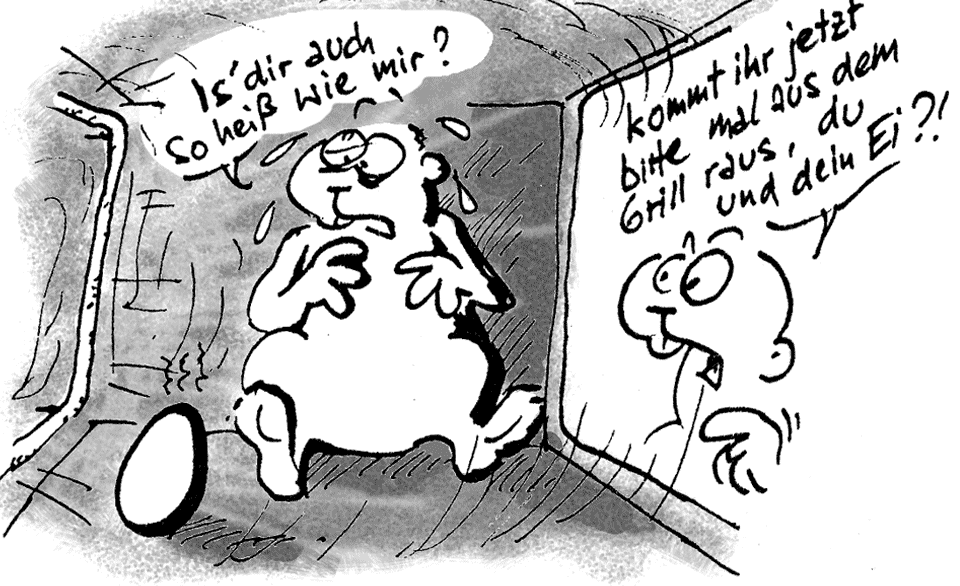 Osterzeit im Grill